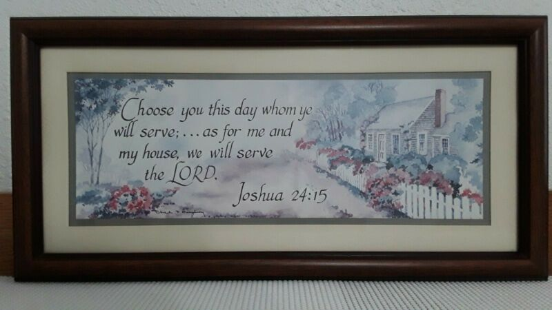 "Older(Vintage) Home Interior Picture ""Choose You This Day..."" Joshua 24:15"