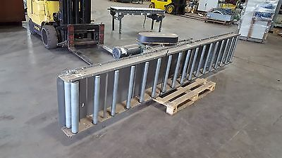 Fki Logistex Roller Bed Belt Conveyor 12 8 With Drive Unit 1 12 Hp Motor