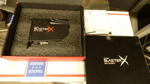 Creative Sound BlasterX AE-5 PCIe Gaming Sound Card With the Led strip ect box