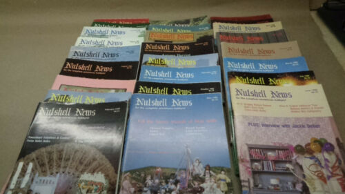 25 Nutshell News doll house items magazines Miniature Hobby 1980