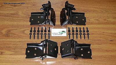 Door Hinge Set 28pc w/bolts 68-72 Chevelle GTO Cutlass Skylark El Camino