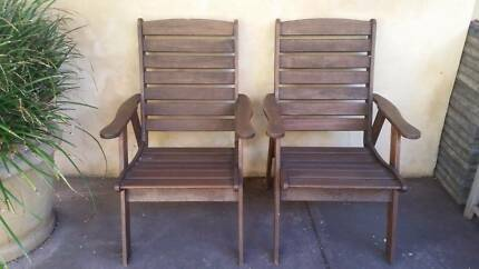 2 TIMBER CARVER CHAIRS