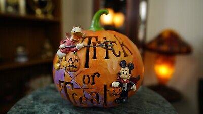 Disney Halloween Treat Pumpkin (Jim Shore Disney Traditions Mickey & Donald Halloween Pumpkin Trick Or)