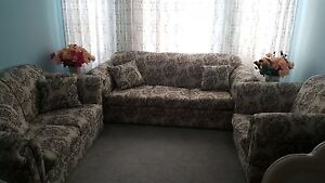 Beige Floral Sofas + 2 Sofa Chairs