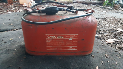 Old metal boat fuel tank
