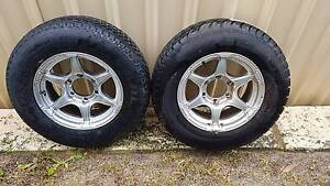 15 inch Trailer Wheels & Tyres - Good Condition Armadale Armadale Area Preview
