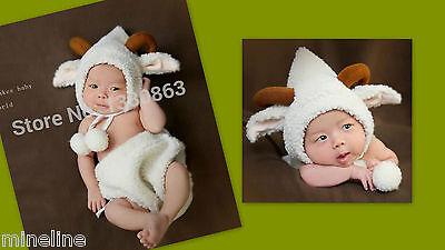 ★★★NEU Baby Fotoshooting Kostüm Steinbock Stier 0-6 Monate★★★Q ()