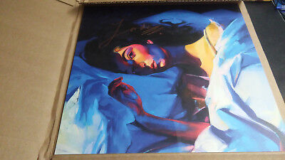 LORDE AUTOGRAPHED SIGNED MELODRAMA COVER ART 12x12 LITHOGRAPH SOLD OUT RARE