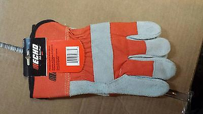 Gardening Gloves Echo Leather Palm Heavy Duty Work Gloves Landscaping Gloves