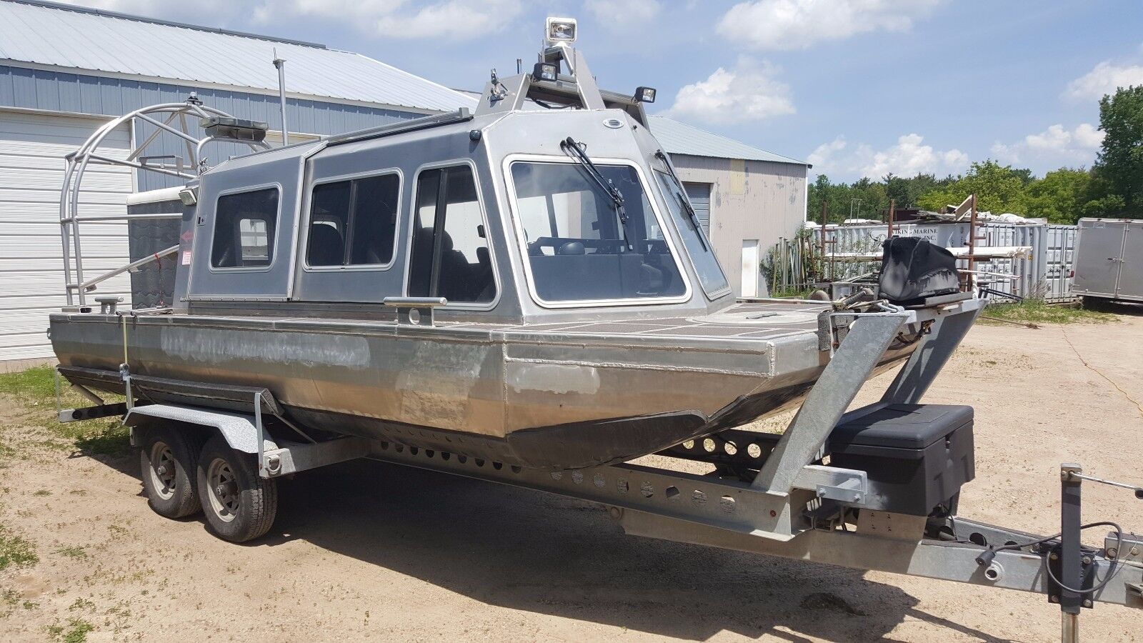 Airboat (former Uscg Ice Rescue Airboat) Tiltbed Galvanized Trailer - Used Midwest Rescue ...