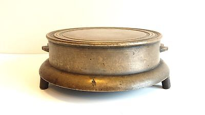 ANTIQUE CHINESE BRONZE CENSER and STAND - MARKED