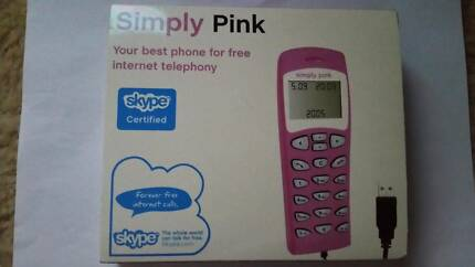 Simply Pink USB graphic LCD PC phone for Skype