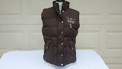 Brown Cowgirl Vest (Cowgirl hardware vest size medium NWT quilted brown, excellent condition)