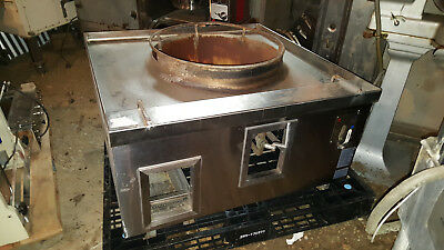 Allstrong Restaurant Countertop Commercial Nat Gas Wok Range Stove 1 Hole Burner