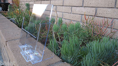 "Clear Acrylic 8.5""x11"" Magazine Brochure Flyer Display with Business Card Holder"