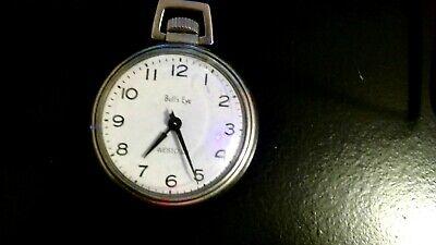 Westclox Bull's Eye Vintage Mechanical Wind Up Pocket Watch