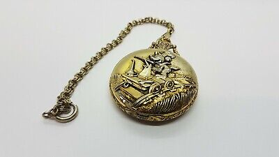 Verichron Rare 90s Mickey Mouse Pocket Watch Quartz Railroad Vintage Watches 90s
