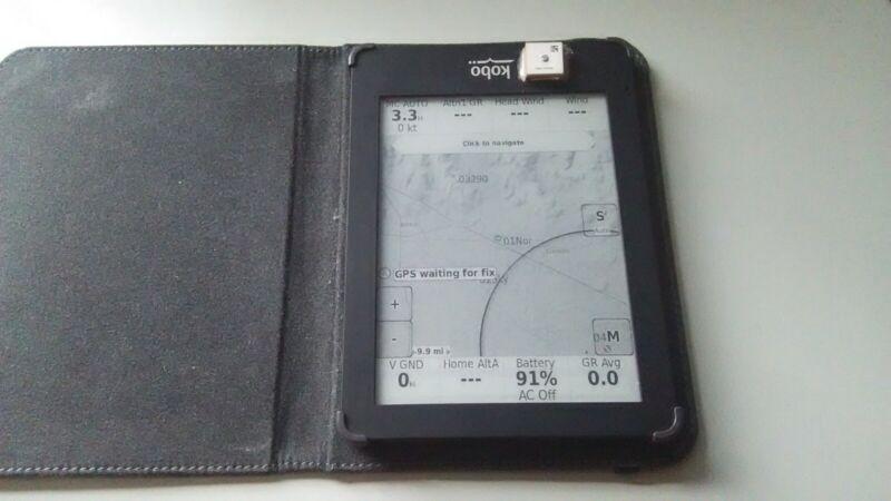 Kobo glo with Tophat and GPS