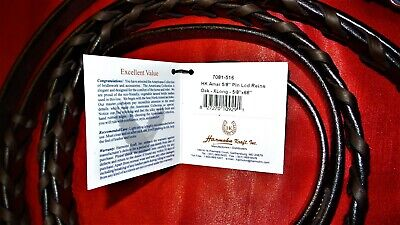 BRAND NEW THE PRECISION REIN MADE BY GATEWAY EQUESTRIAN TOBACCO