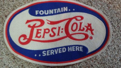 PEPSI COLA  SODA FOUNTAIN   SODA POP  BACK PATCH  OLD NEW STOCK  BX W
