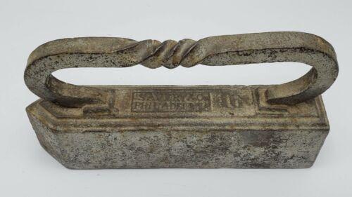 Antique Savery & Co. Philadelphia Cast Iron 16 Lb. Sad Iron Doorstop Circa 1870