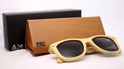 Holz Sonnenbrille für Herren/Damen, klassisches Design, mit Original Bambus