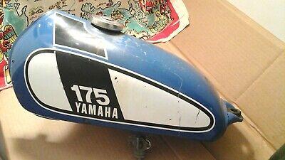 YAMAHA OEM GAS FUEL PETRO TANK DT175 ENDURO BLUE 1975 Yamaha 175 Enduro Tank.