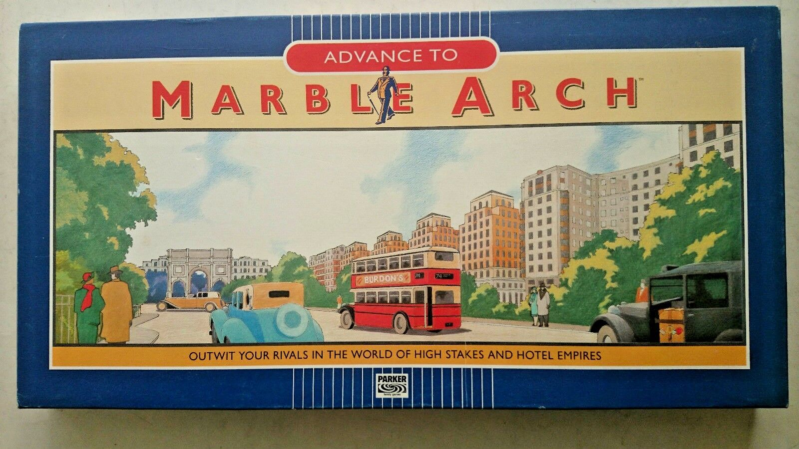 Advance to Marble Arch Game By Parker 1985
