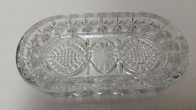 """CRYSTAL CRUET REPLACEMENT TRAY~7 3/4"""" LONG~SOLID & HEAVY (CRUETS NOT INCLUDED)"""