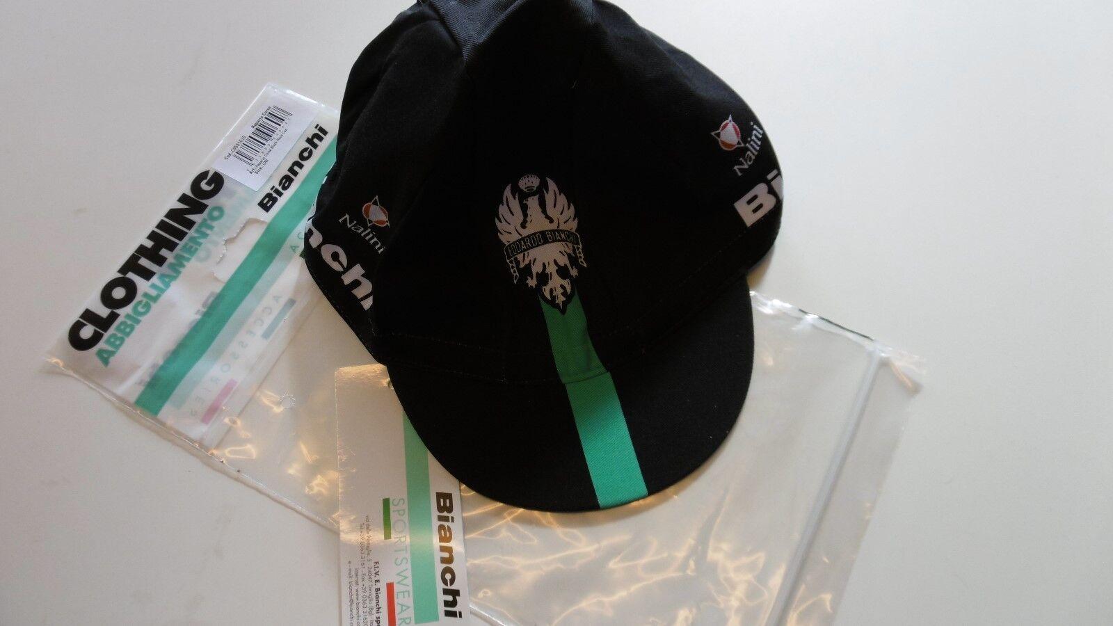 Bianchi Nalini Reparto Corsa Black Race Cycling Cap New In Bag Made In Italy