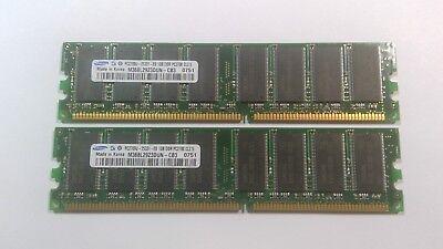 2GB (2 x 1GB) PC2700 Samsung Memory Kit 333MHz 184-Pin Desktop RAM DIMMs ()