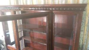 Turned timber and glass Display cabinet Murrumba Downs Pine Rivers Area Preview