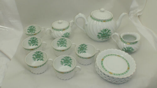 Haviland Limoges France torse swirl tea set MINT! tea pot creamer sugar cups C13