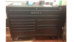 Matco 4s 2 bay tool box with power& USB silver vien paint!!