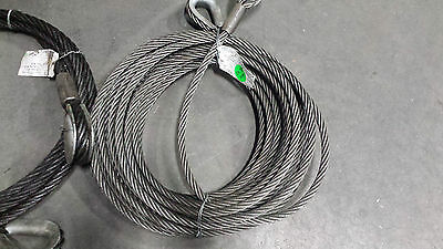Cable Lifting Sling 34 Diameter 100 Ftcable Wire Rope Sling Thimble Eyes