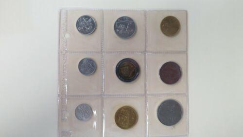 1982 San Marino UNC Mint Set of 9 coins MS21