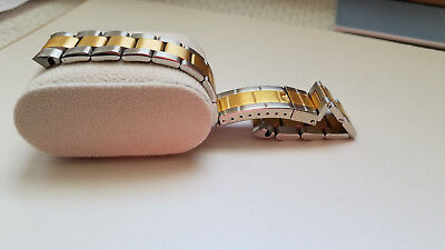 20MM OYSTER WATCH BAND BRACELET DATEJUST 16013,16233 GOLD/SS TWO TONE SOLID BKL