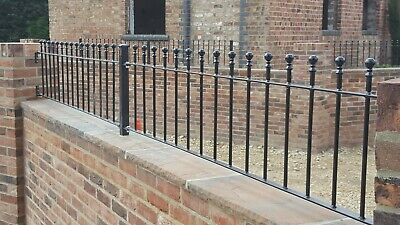 Railing steel . Wall  6ft x 450 fencing ball top