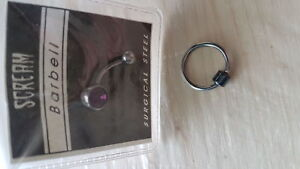 Barbel and ring piercing jewellery