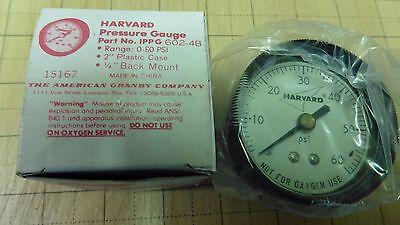 New Harvard Pressure Gauge 2 Dial 14 Back Mount 0-60 Psi Range Ippg 602-4b