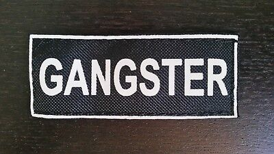 GANGSTER Patches for Dog Harness or Collar, 4.5
