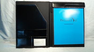Passage 2 2434 Black Leather Letter Sized Writing Pad