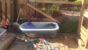 Claw foot tub and Kohler shower kit