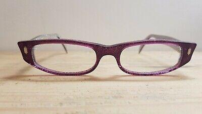 Kirk Originals Rhea 1008 Hand Made in France BRAND NEW 51.18 140 Purple + Silver