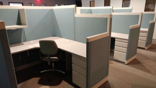 Used Office Cubicles, Allsteel Concensys 6x6 Cubicles