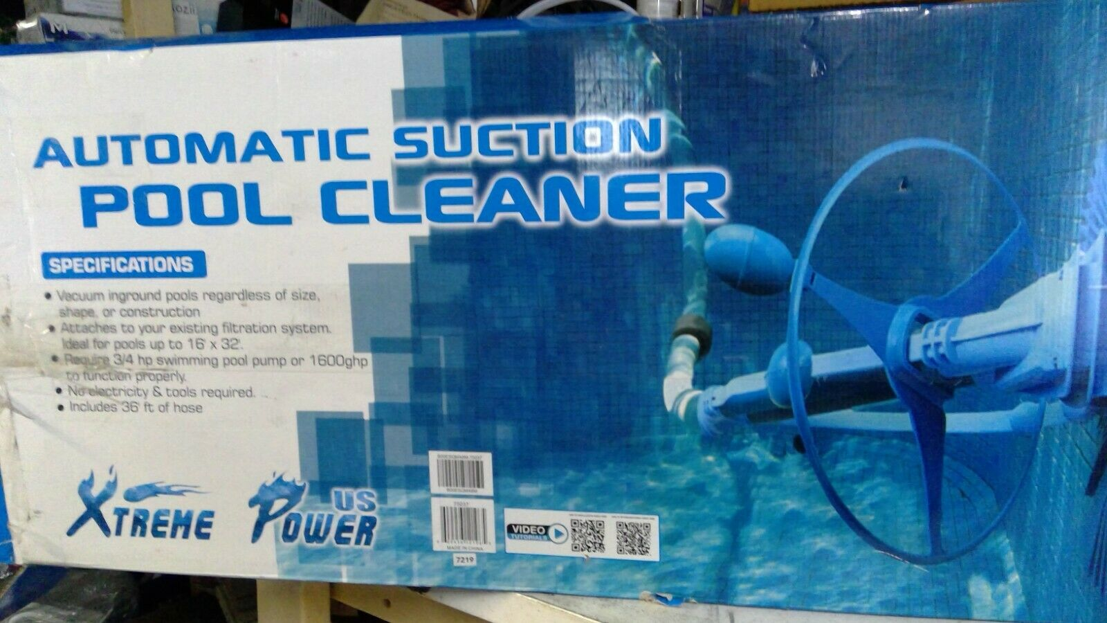 75037 pool cleaner vacuum blue
