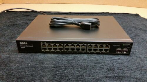 Dell PowerConnect 2824 24-Port Gigabit Managed Switch w/ Power Adapter 1737
