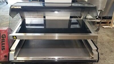 2014 Alto Shaam Ed2 48-2s Heated Display Dbl Shelf Curved Glass Countertop Case