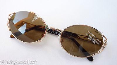 Neostyle feminine Damen Sonnenbrille gold verziert Perlen Glitzersteine Grösse M