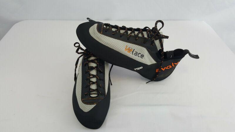 Evolv VTR3D Kids Size 13.5 Rock Climbing Caving Shoes Orange / Gray / Black